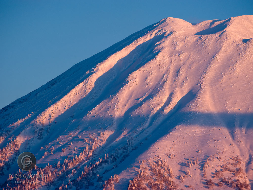 Sunset on Mt.Yotei, 23 January 2013
