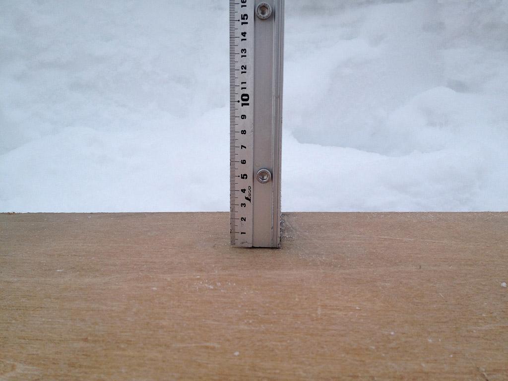 Snow fall depth in Hirafu Village, 7 February 2013