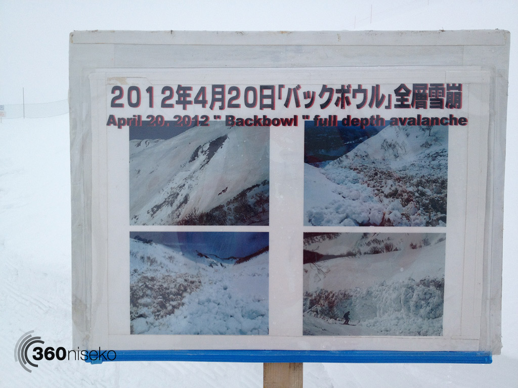 Full depth avalanche information that occurred on the 20th April, 1 May 2013
