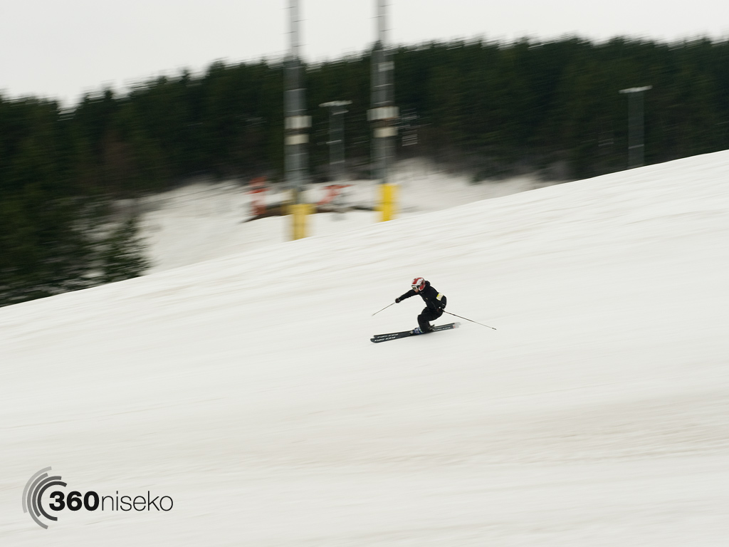 Carving down the Alpen course, 6 May 2013