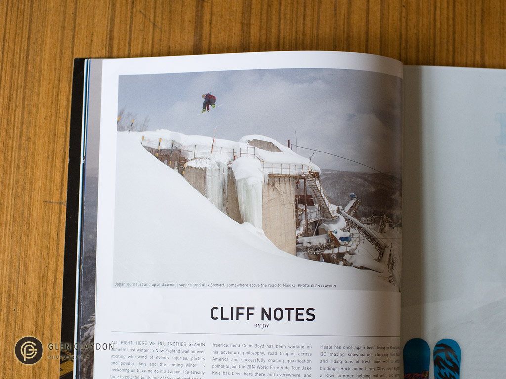 NZ Snowboarder issue #58 MAY 2013, Alex Stewart