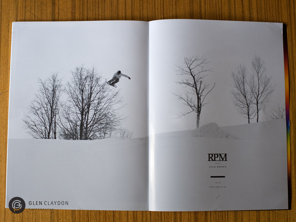 NZ Snowboarder issue #58 MAY 2013, Nick Brown - RPM ad