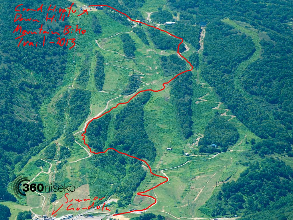 Grand Hirafu Mountain Bike Park Course, 21 July 2013