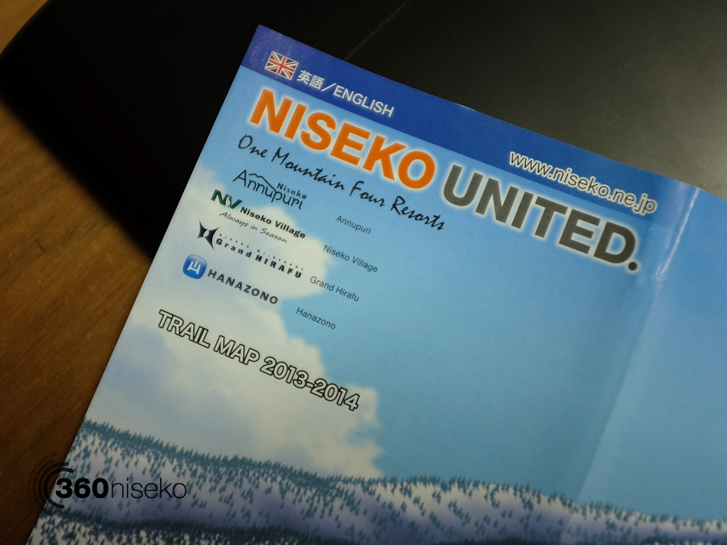 Niseko United Trail Map 2013-2014 One Mountain four resorts, 23 October 2013