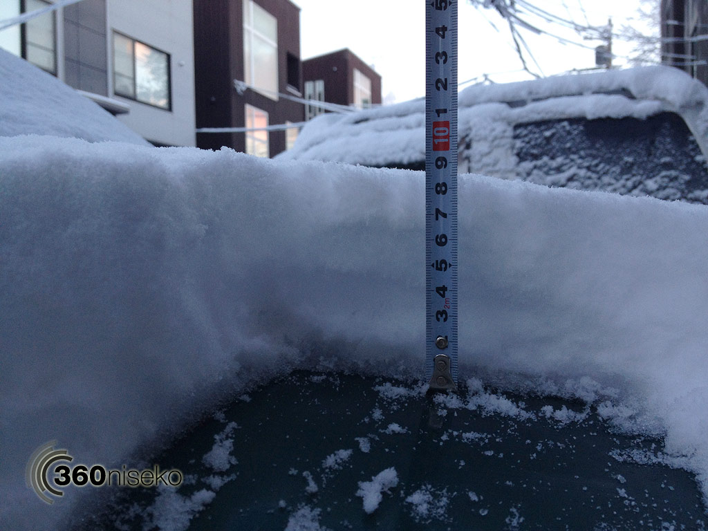 Snowfall depth in Hirafu Village - Bonnet reading, 9 November 2013