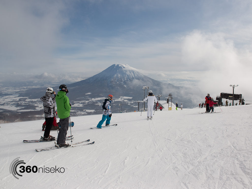 The amazing view from the top of Hanazono Hooded Triple Lift #3, 26 December 2013