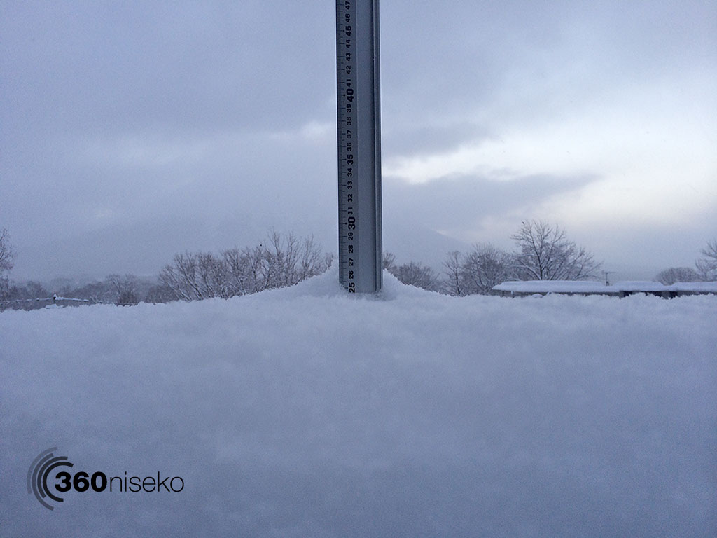 Snowfall in Hirafu Village, 5 January 2014