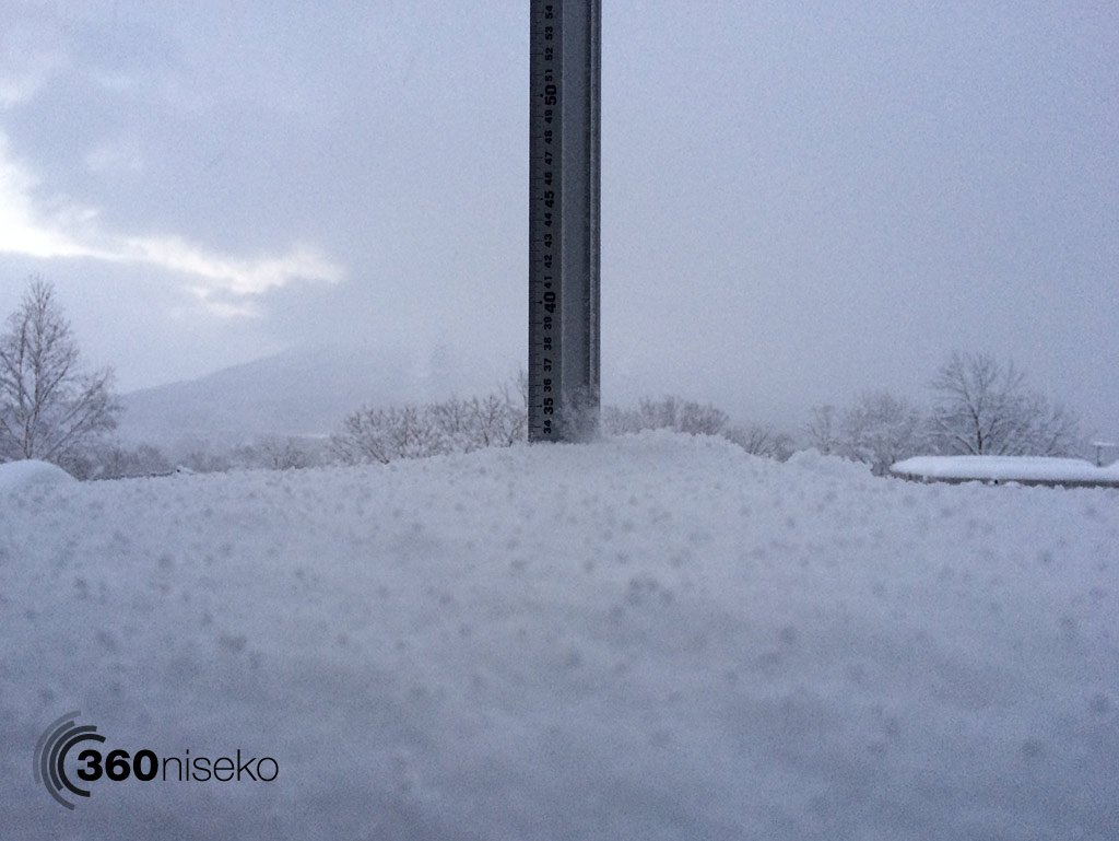 Snowfall in Hirafu Village, 6 January 2014