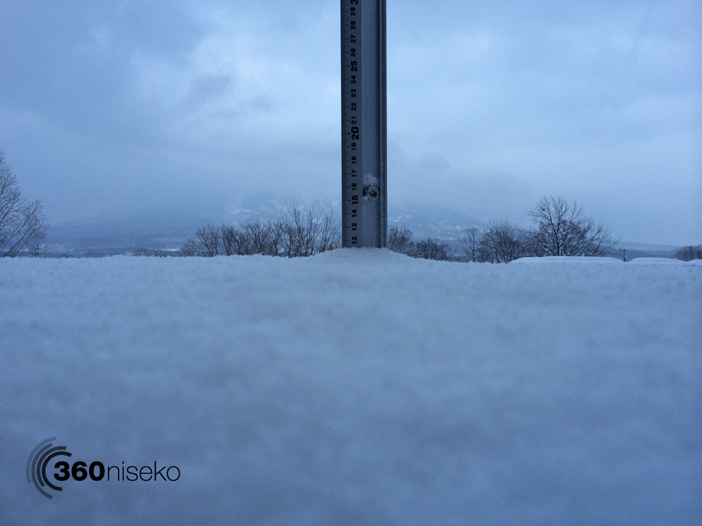 Snowfall in Hirafu Village, 8 January 2014