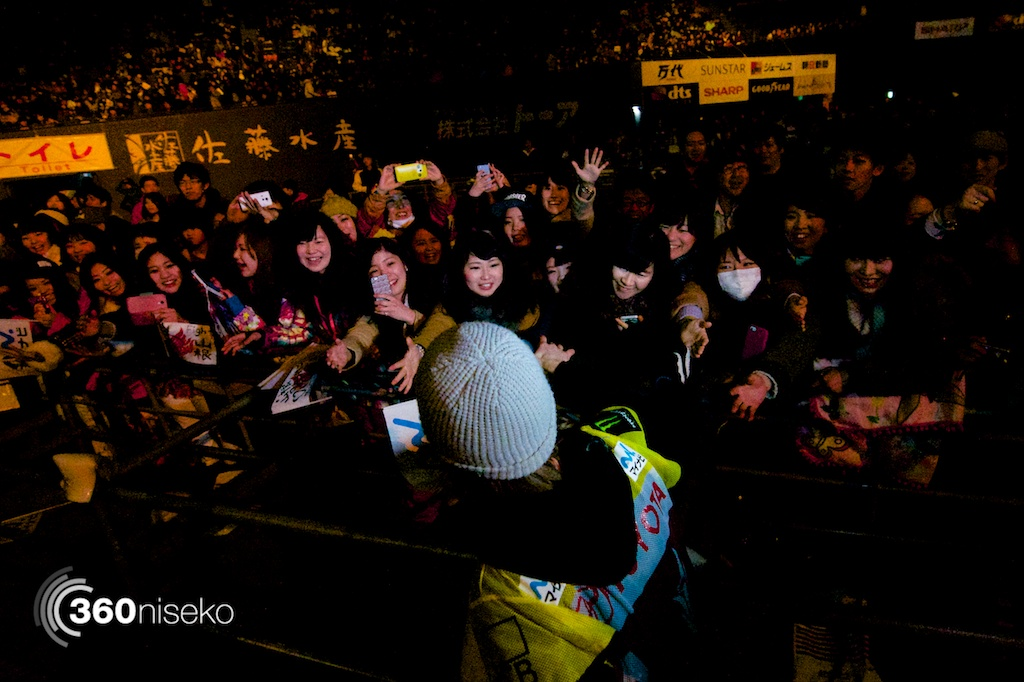 But, he's still hugely popular with the Japanese fans