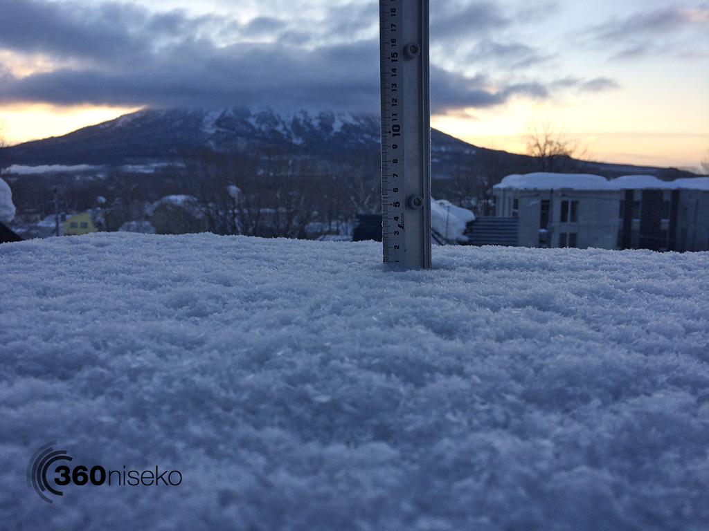 Snowfall in Hirafu Village, 11 February 2014