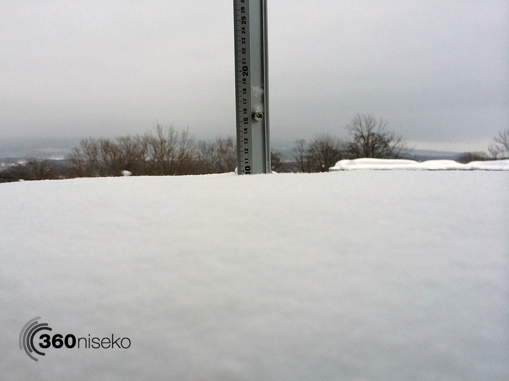 Snowfall in Hirafu Village, 16 February 2014