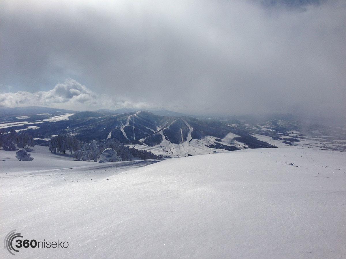 The summit of Shiribetsu-dake, 13 February 2014