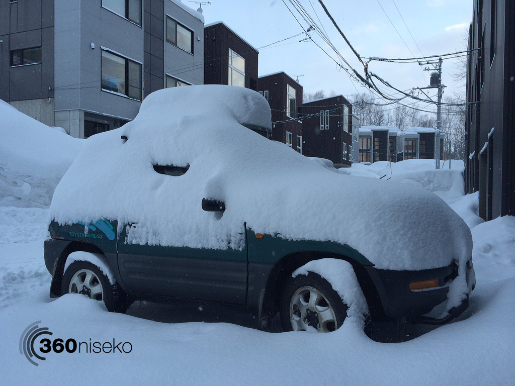 A buried car, 7 March 2014
