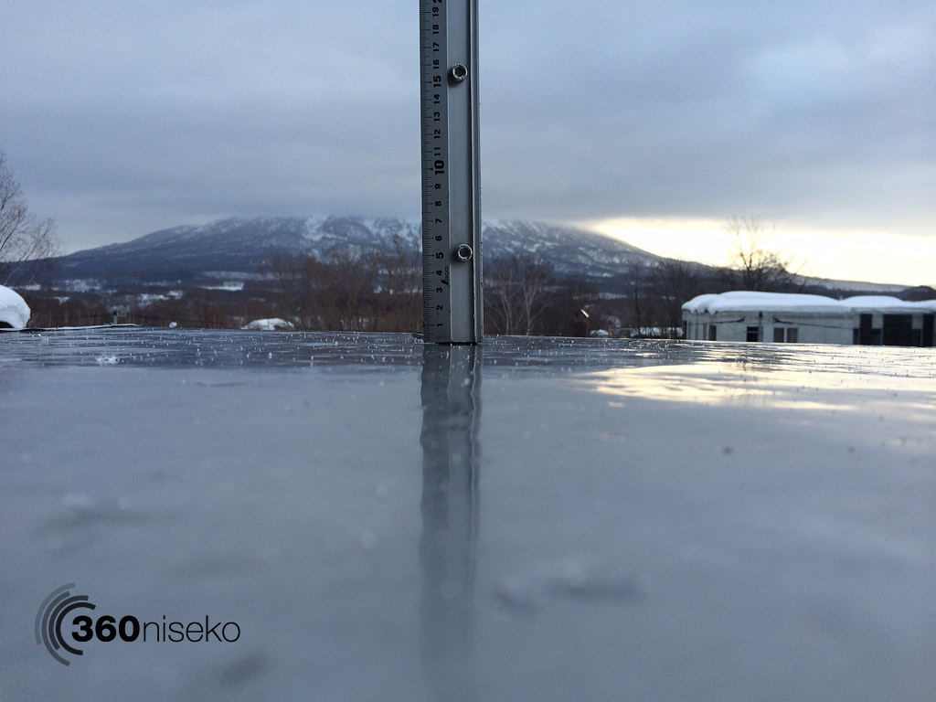 Snowfall in Hirafu Village, 14 March 2014