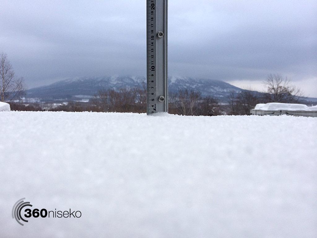 Snowfall in Hirafu Village, 19 March 2014