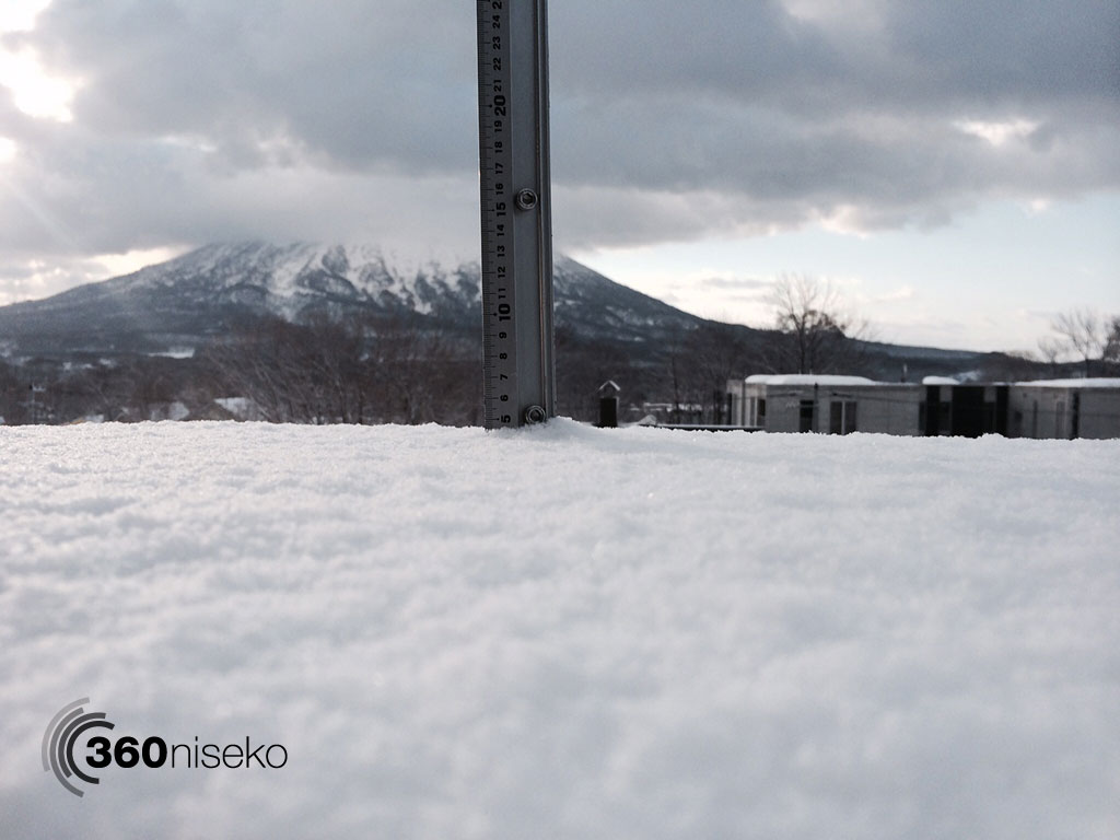 Snowfall in Hirafu Village, 6 April 2014