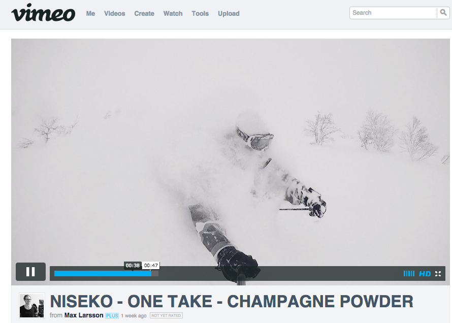Now this is waist deep champagne powder!