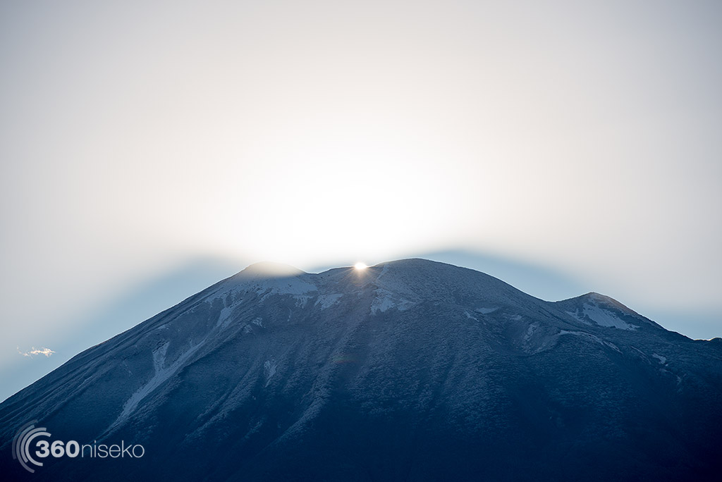First rays over Mt.Yotei, 15 October 2014