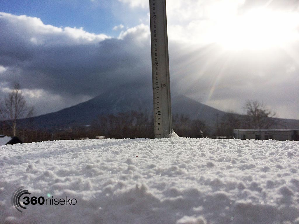 Snowfall in Hirafu Village, 4 November 2014