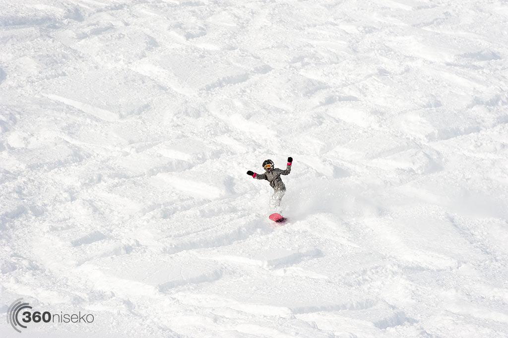 A happy snowboarder, 2 January 2014