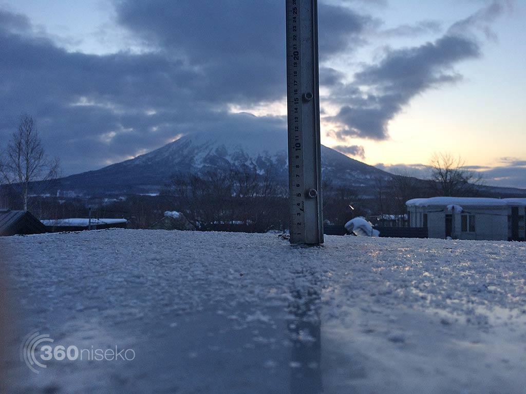 Snowfall in Hirafu Village, 16 January 2015
