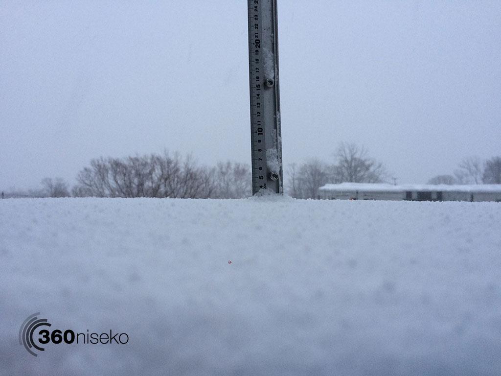 Snowfall in Hirafu Village, 28 January 2015