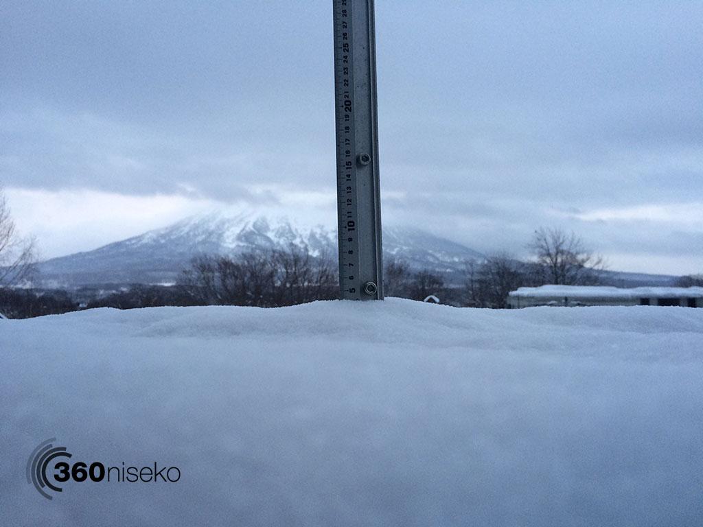 Snowfall in Hirafu Village, 30 January 2015