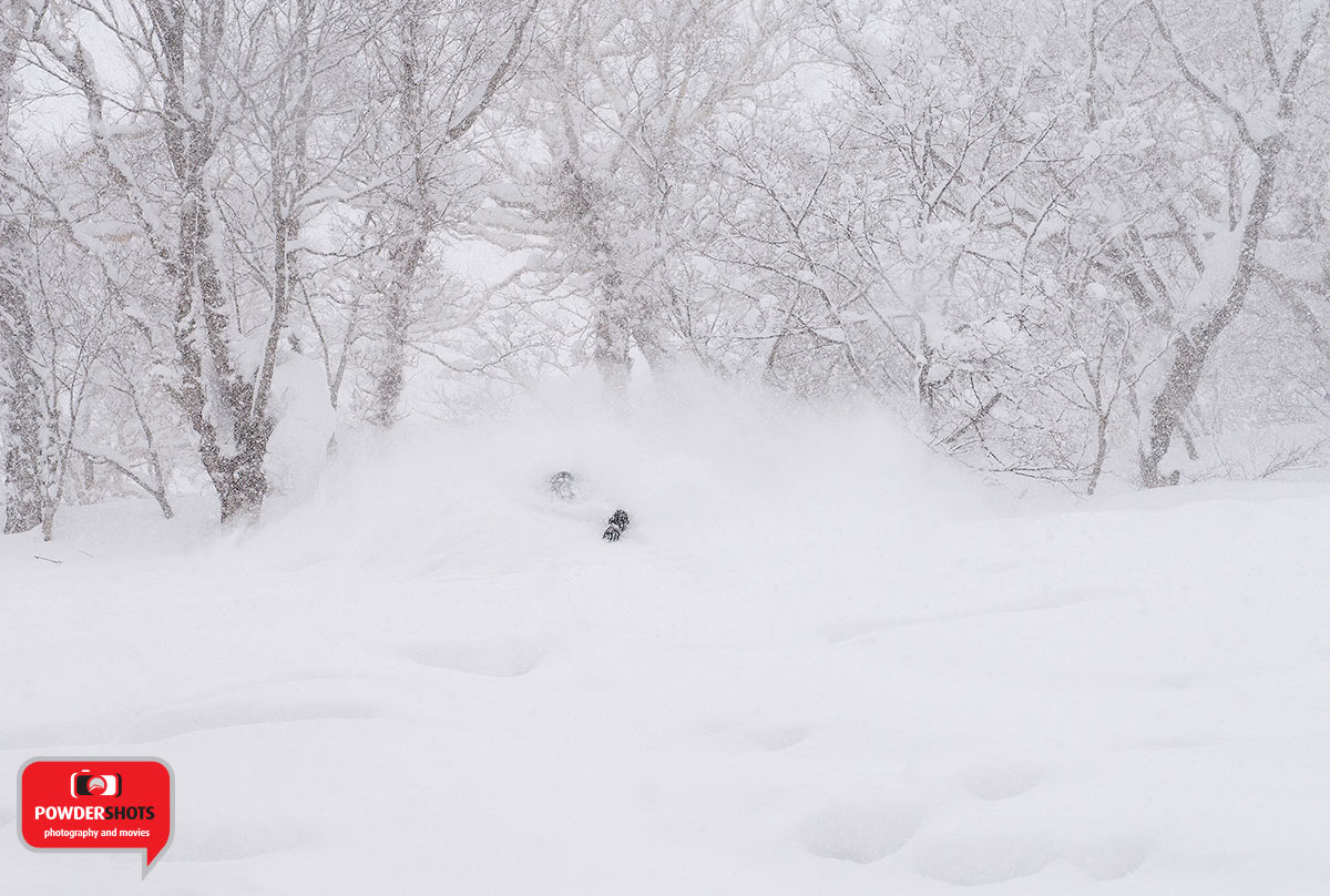 Pistol Pete snow surfing a massive powder wave, 10 February 2015