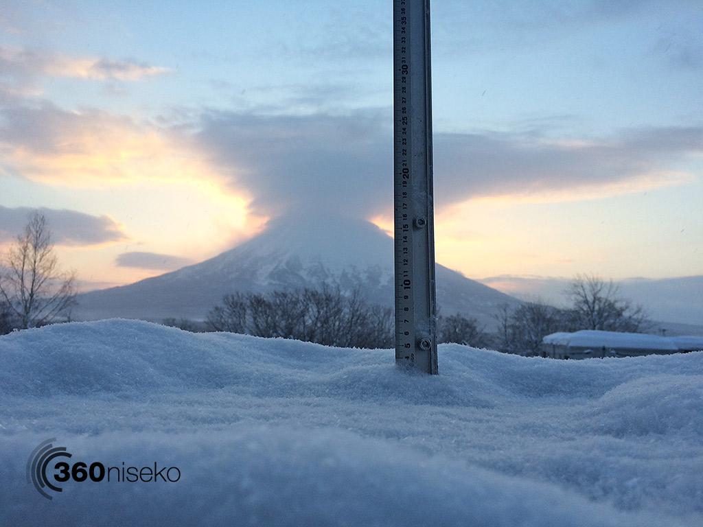 Snowfall in Hirafu Village, 12 February 2015