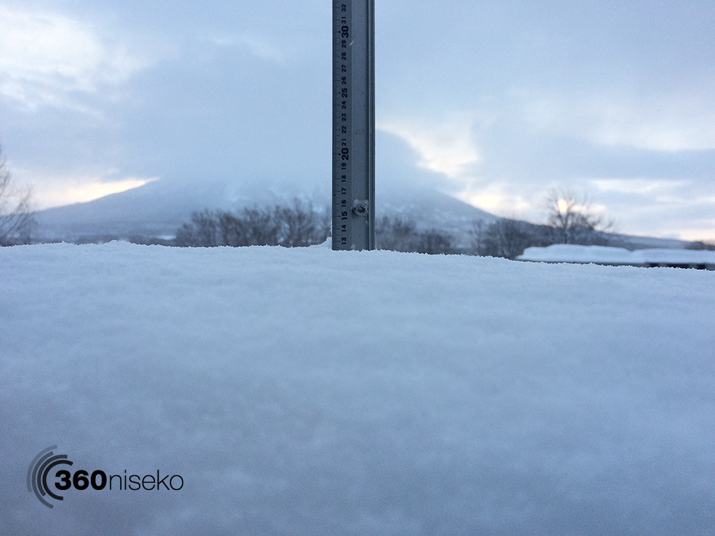 Snowfall in Hirafu Village, 15 February 2015