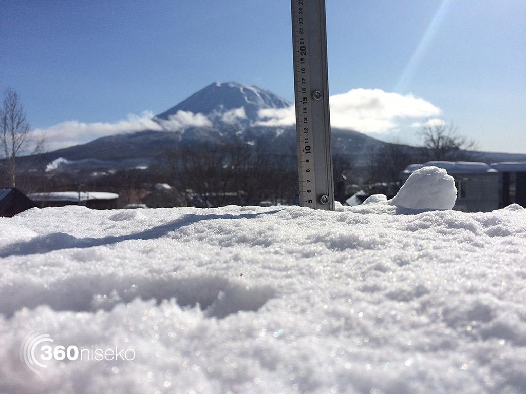 Snowfall in Hirafu Village, 17 February 2015