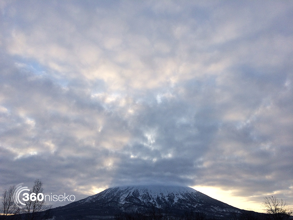 Mt.Yotei casting a nice shadow, 21 February 2015