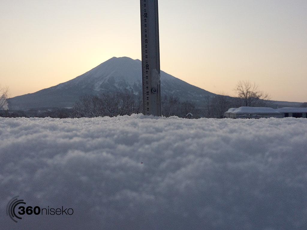 Snowfall in Hirafu Village, 26 February 2015
