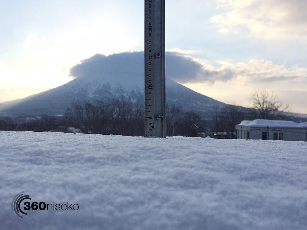 Snowfall in Hirafu Village, 3 March 2015
