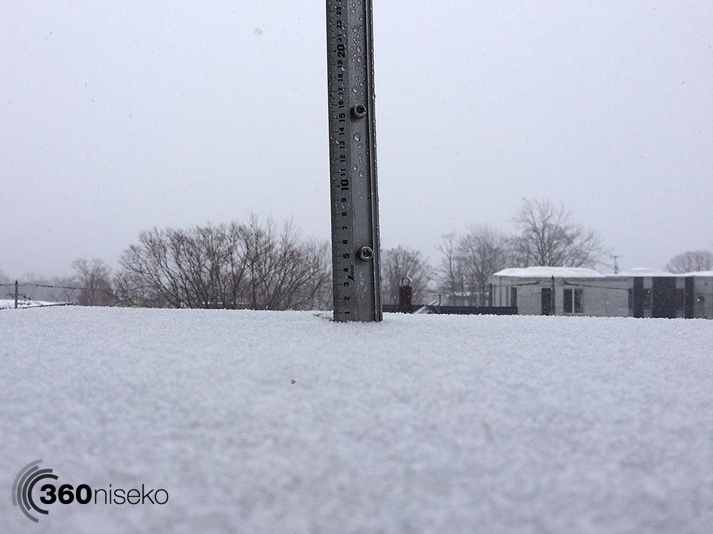 Snowfall in Hirafu Village, 22 March 2015