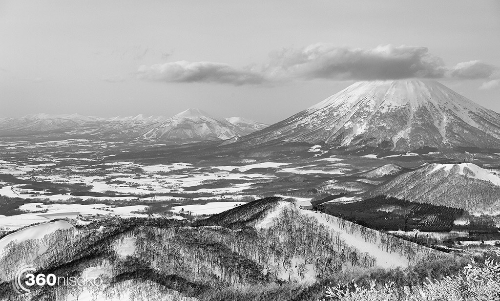 A stunning view from Rusutsu ski ground looking towards Mt.Yotei and Niseko, 3 March 2015