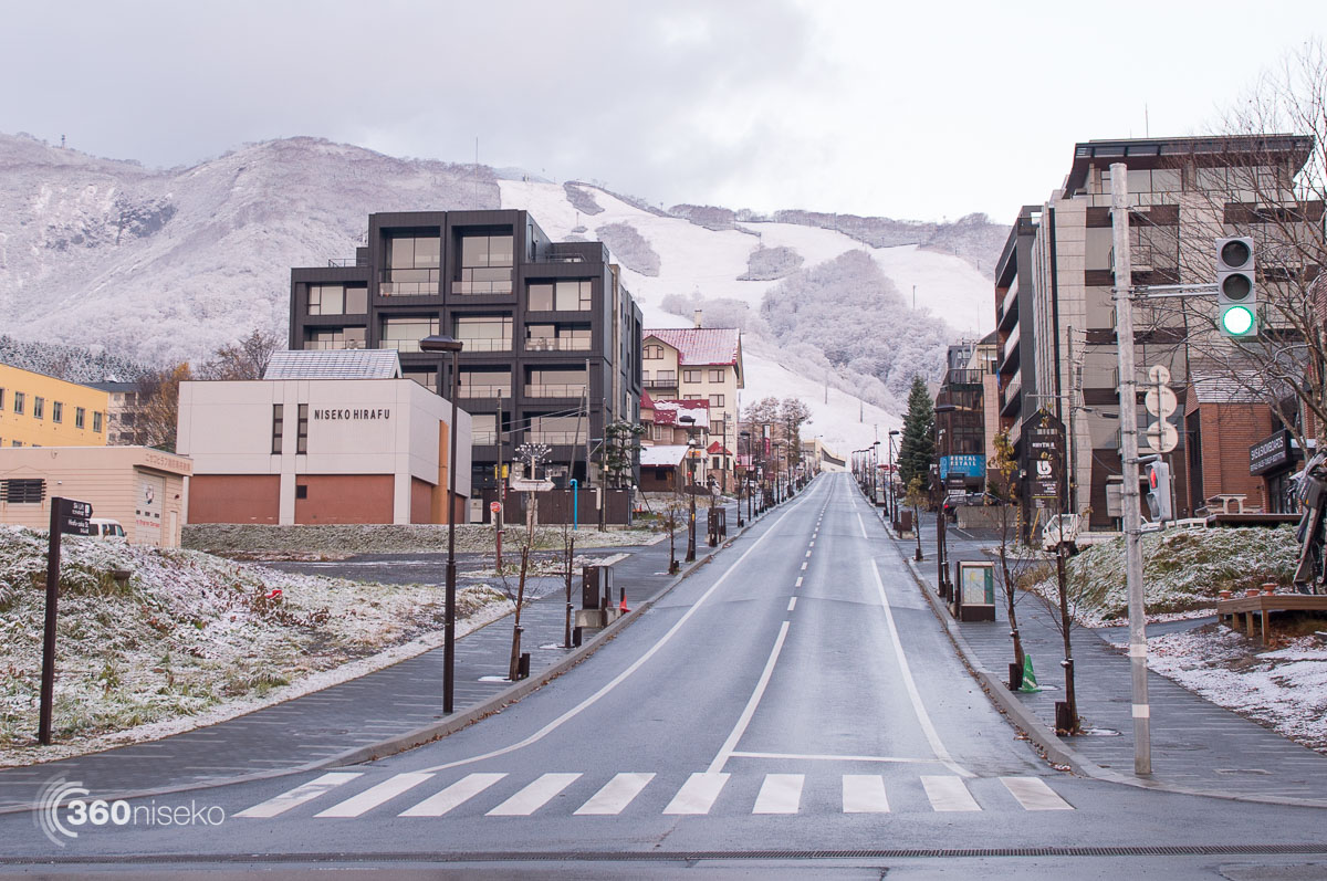Snowfall down to village level, 30 October 2015