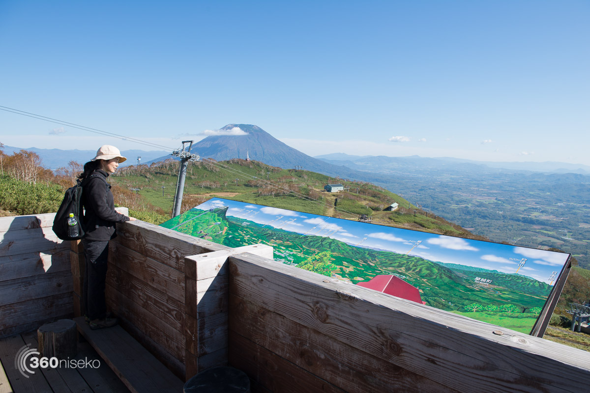 Admiring the view from the 1000m lookout from the Niseko Annupuri Ski Field, 7 October 2015