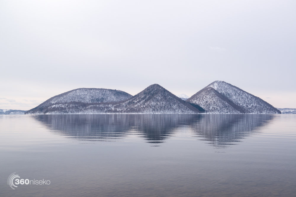 Lake Toya in winter, 1 March 2013