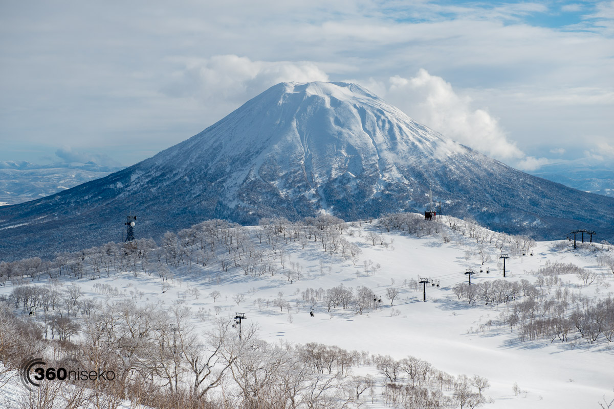 Mt.Yotei over the Niseko Gondola