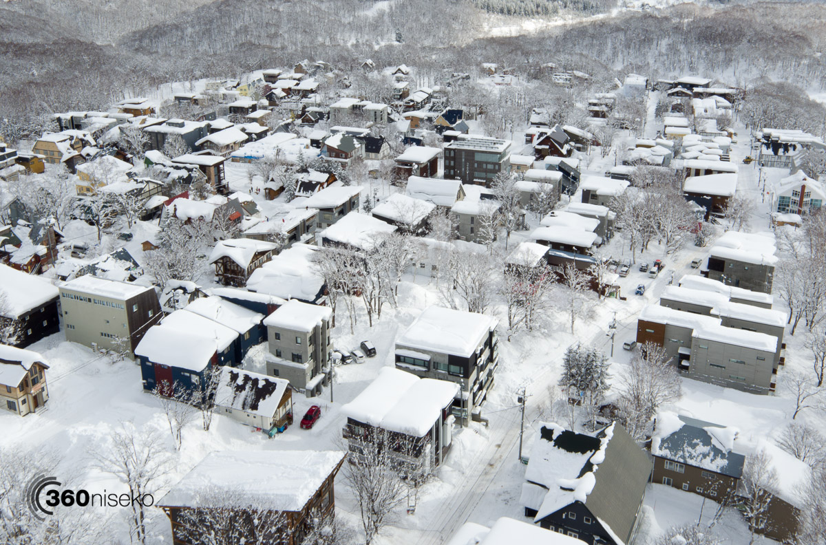 Middle and lower Hirafu village, 17 January 2016
