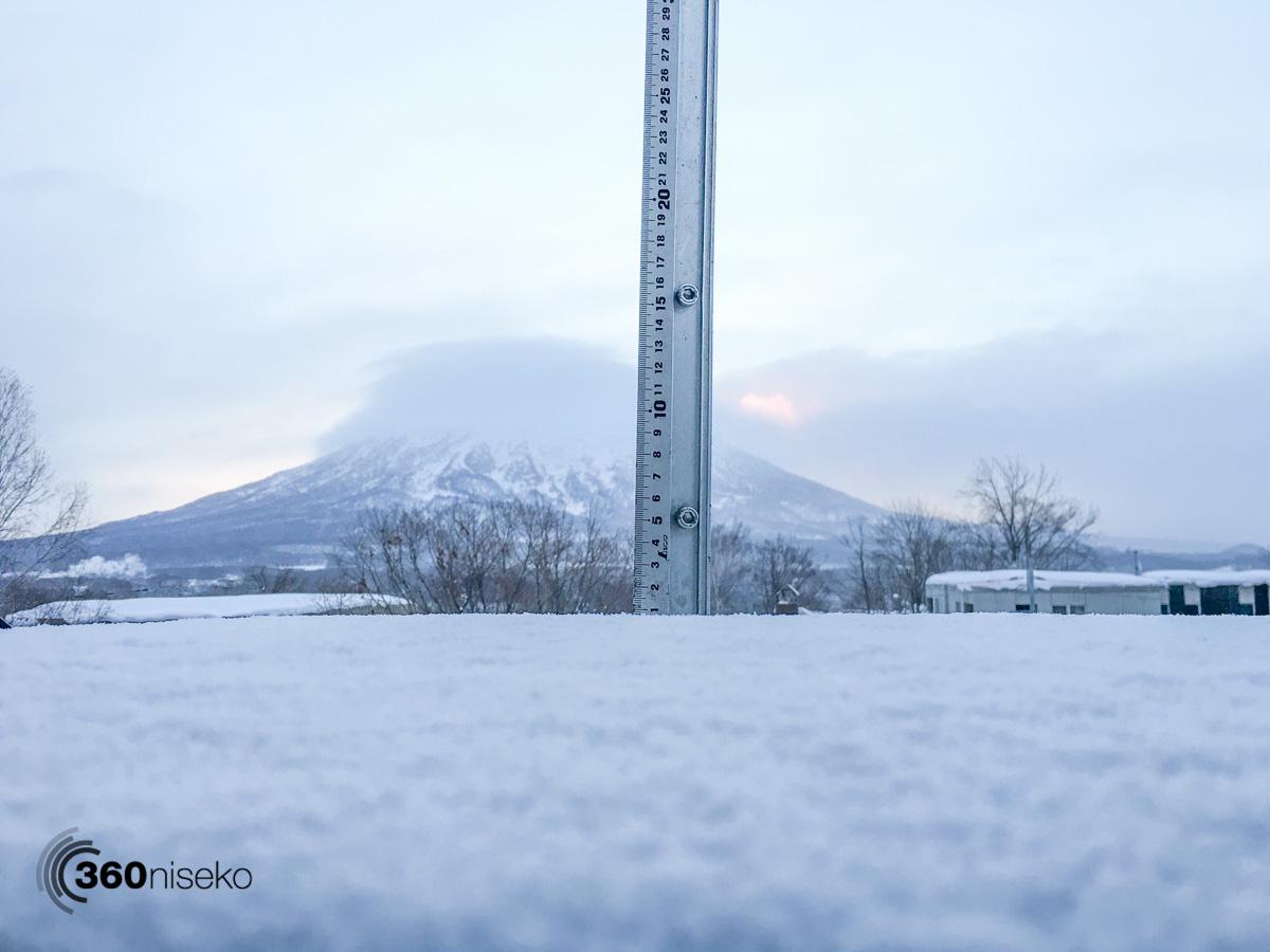 Snowfall in Hirafu Village, 25 January 2016