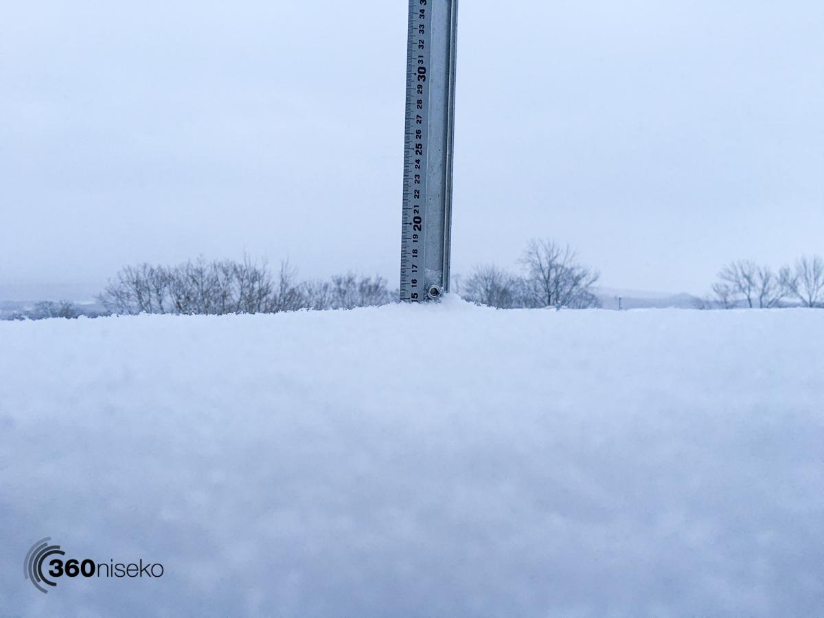 Snowfall in Hirafu Village, 26 January 2016