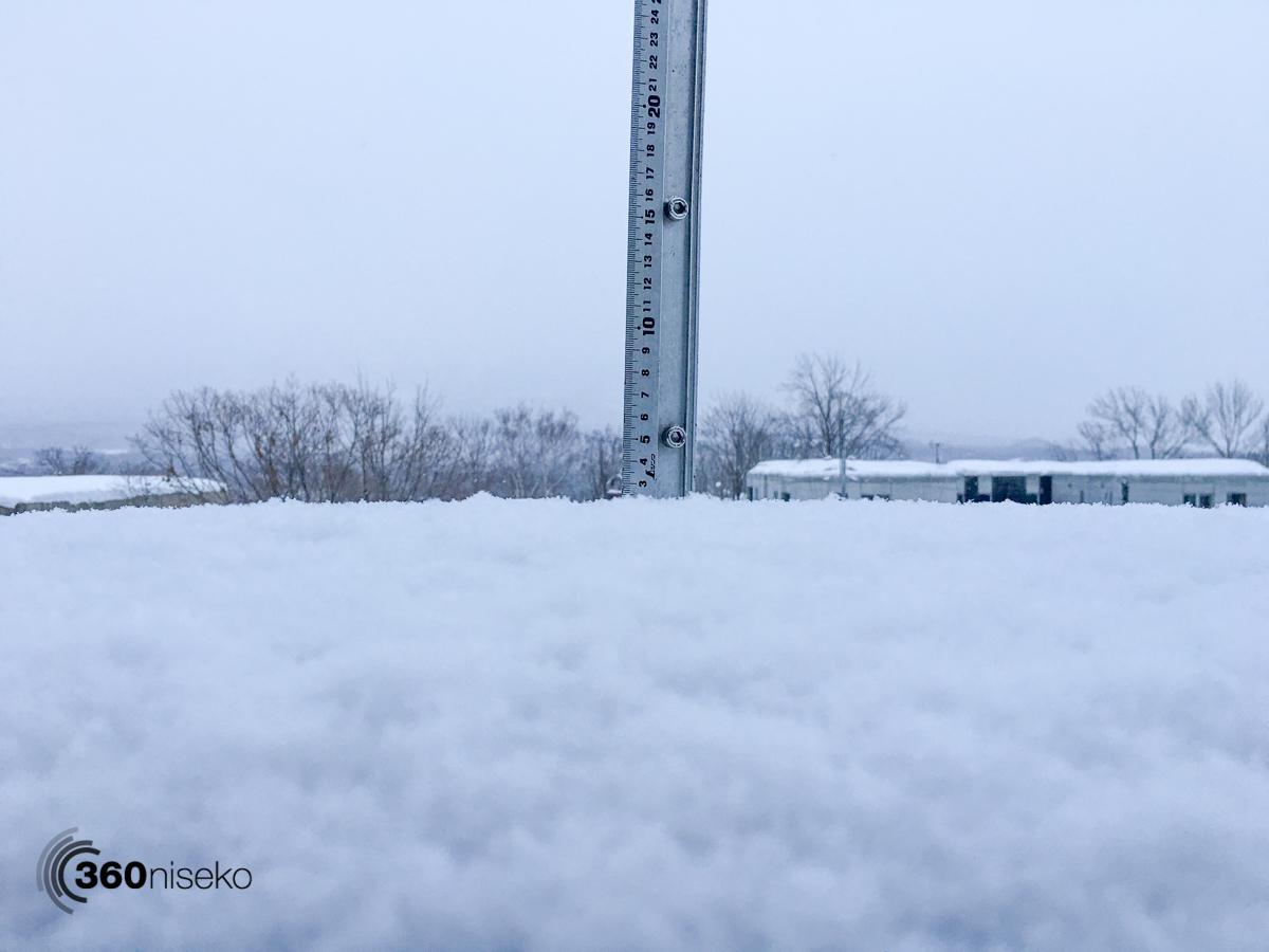 Snowfall in Hirafu Village, 28 January 2016