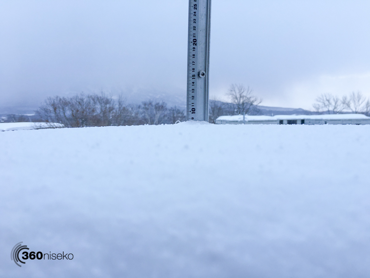 Snowfall in Hirafu Village, 29 January 2016