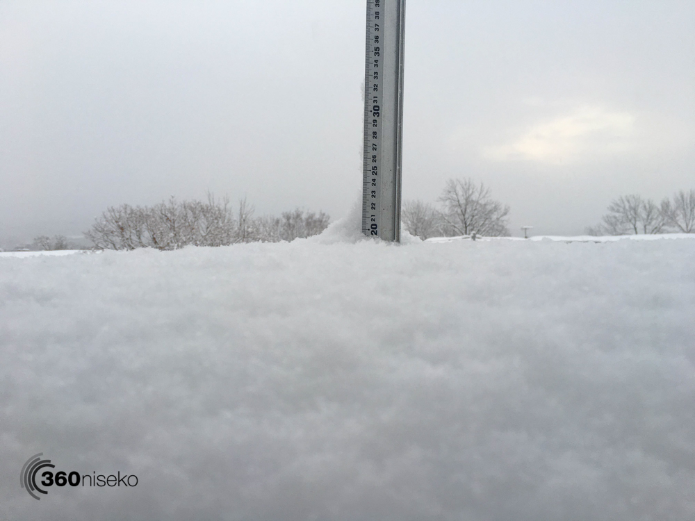 Snowfall in Hirafu Village, 3 February 2016