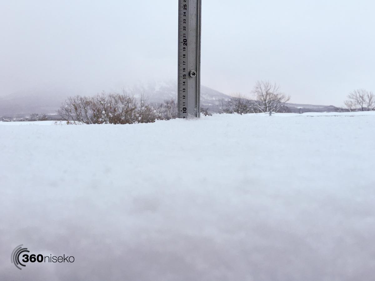 Snowfall in Hirafu Village, 5 February 2016