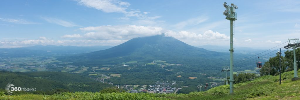 View from the top of the summer Hirafu gondola, 16 July 2016