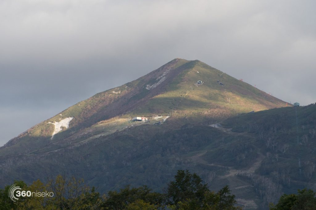 The peak of Mt.Annupuri with it's first snowfall!, 7th October 2016